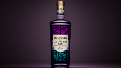 gin against a purple background